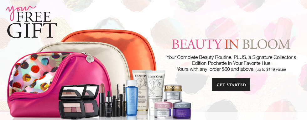 Lancome cosmetics bag that's unavailable